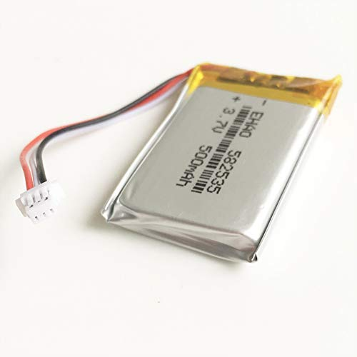 1 Piece Rechargeable Lithium Battery <font><b>3.7</b></font> <font><b>V</b></font> <font><b>500</b></font> <font><b>mAh</b></font> with JST 1.0 Millimeter 3pin 582535 Connector for Mp3 GPS Bluetooth Camera image