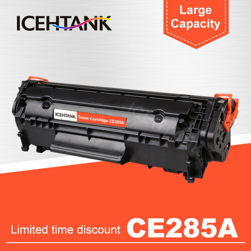 ICEHTANK Compatible 285A Toner Cartridge Replacement for HP CE285A 85a P1102 P1102W laserjet pro M1130 M1132 M1134 M1212 mf 3010 image