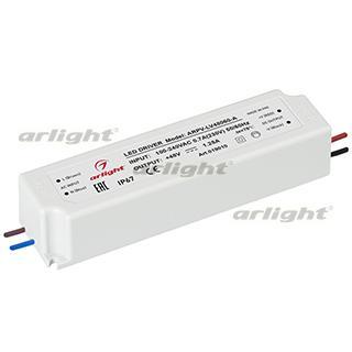 019010 Power Supply ARPV-LV48060-A (48 V, 1.3A, 60W [IP67 Plastic 2] Box-1 Pcs ARLIGHT-Блок Power Supply/AC/DC East ^ 27