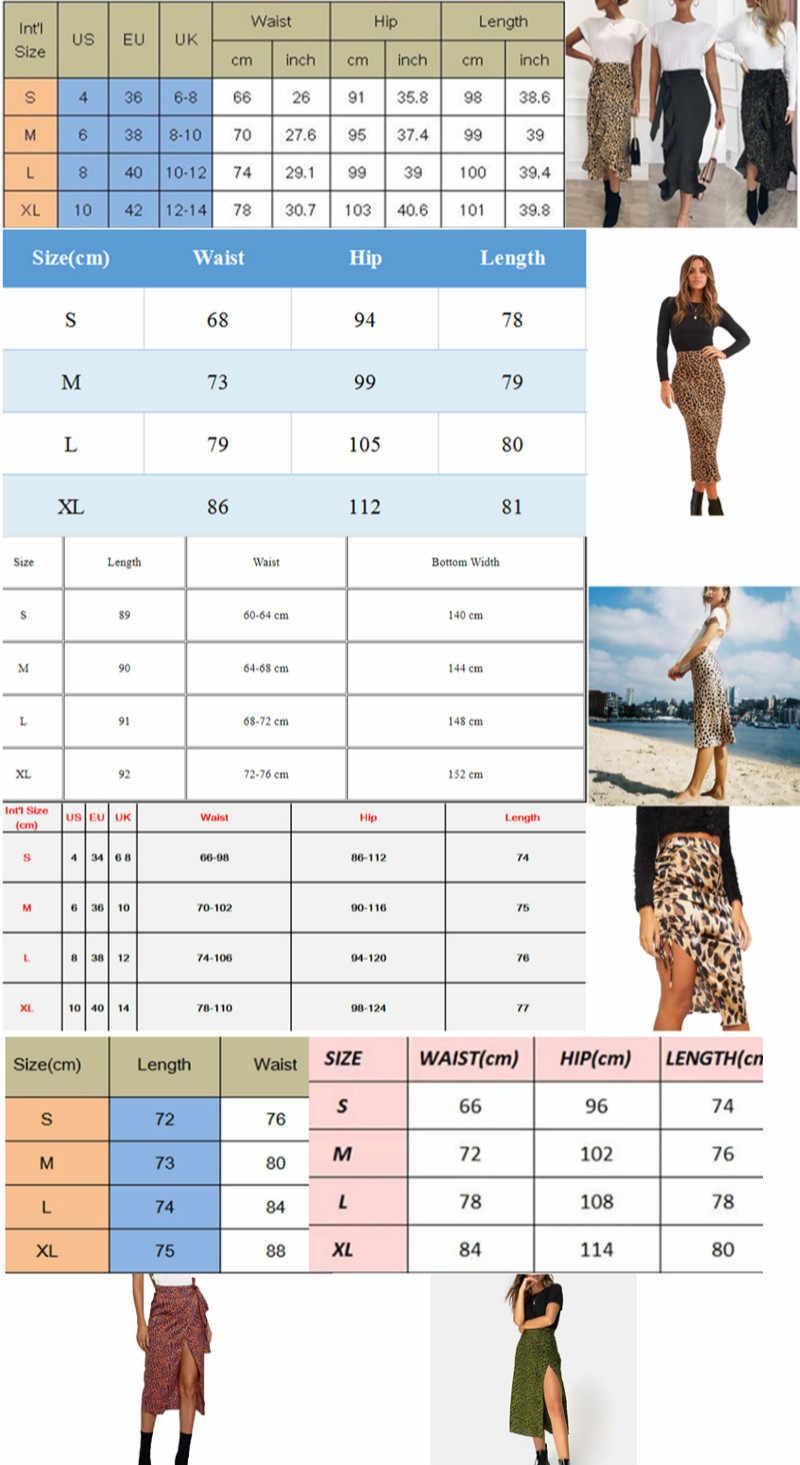 חם קיץ סקסי נשים תחרה עד חצאיות אופנה גבוהה מותן ראפלס Loose Slim ארוך לעטוף חצאית גבירותיי Leopard חוף בגדים נקבה