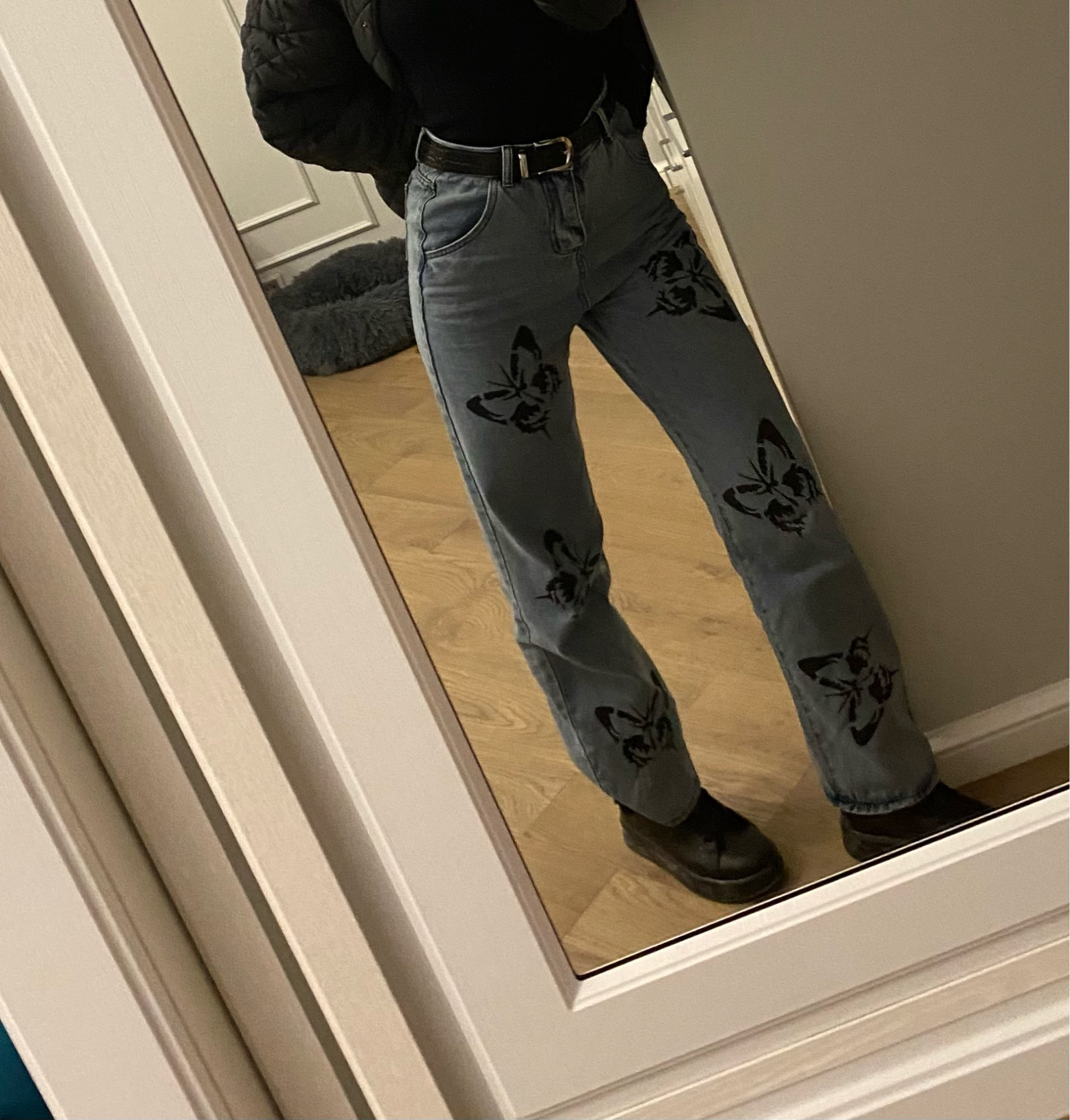 Jeans with Butterfly Print photo review