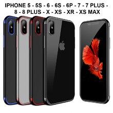 Stand fall tpu Silikon gel Iphone 5 5S 6 6s 6 Plus 7 8 7/8 Plus X XS XR XS Max 11 Pro 11 11 Pro Max qualität 5 farben, verschiffen Spanien