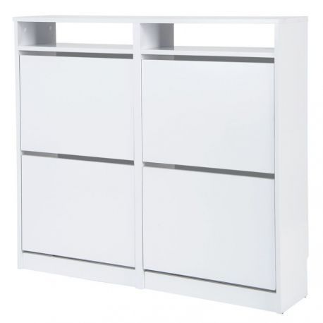 Shoe cabinet wooden 4 folding doors to test from dust Storage font b closet b font