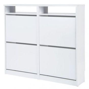 TOPKIT shoe cabinet receiver shoe cabinet narrow shoe rack measures 96x107 5x25 cm