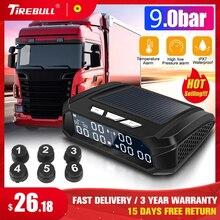 Universal para o caminhão carro sistema de monitoramento pressão dos pneus tpms usb carga solar externo sensor alarme temperatura do pneu monitor