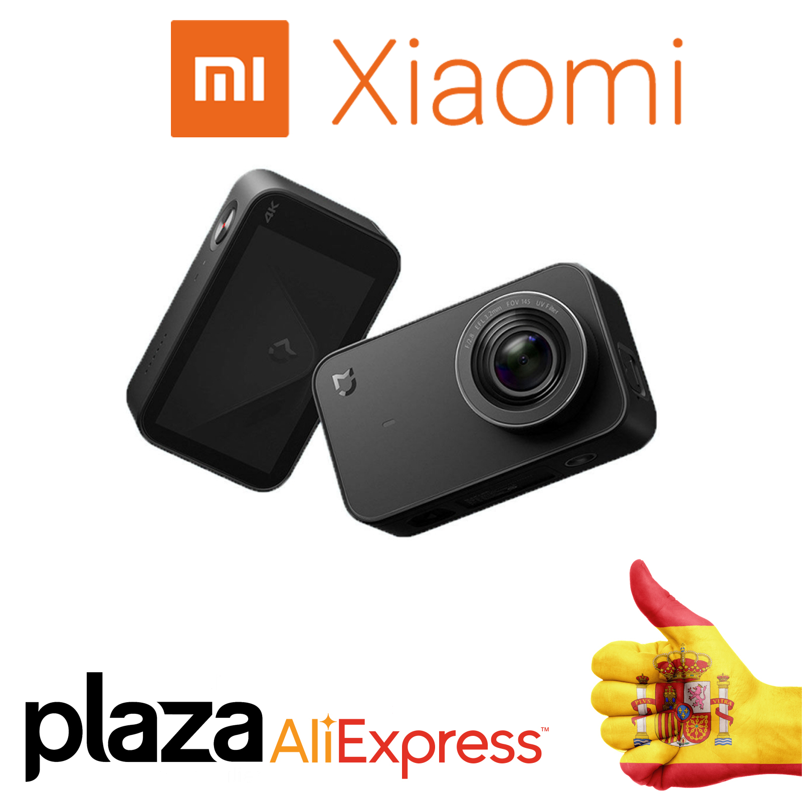 "Xiaomi MiJia mini 4K Action Camera Video 2.4 ""Touch Screen 30 FPS 145 angle Bluetooth WiFi My home app
