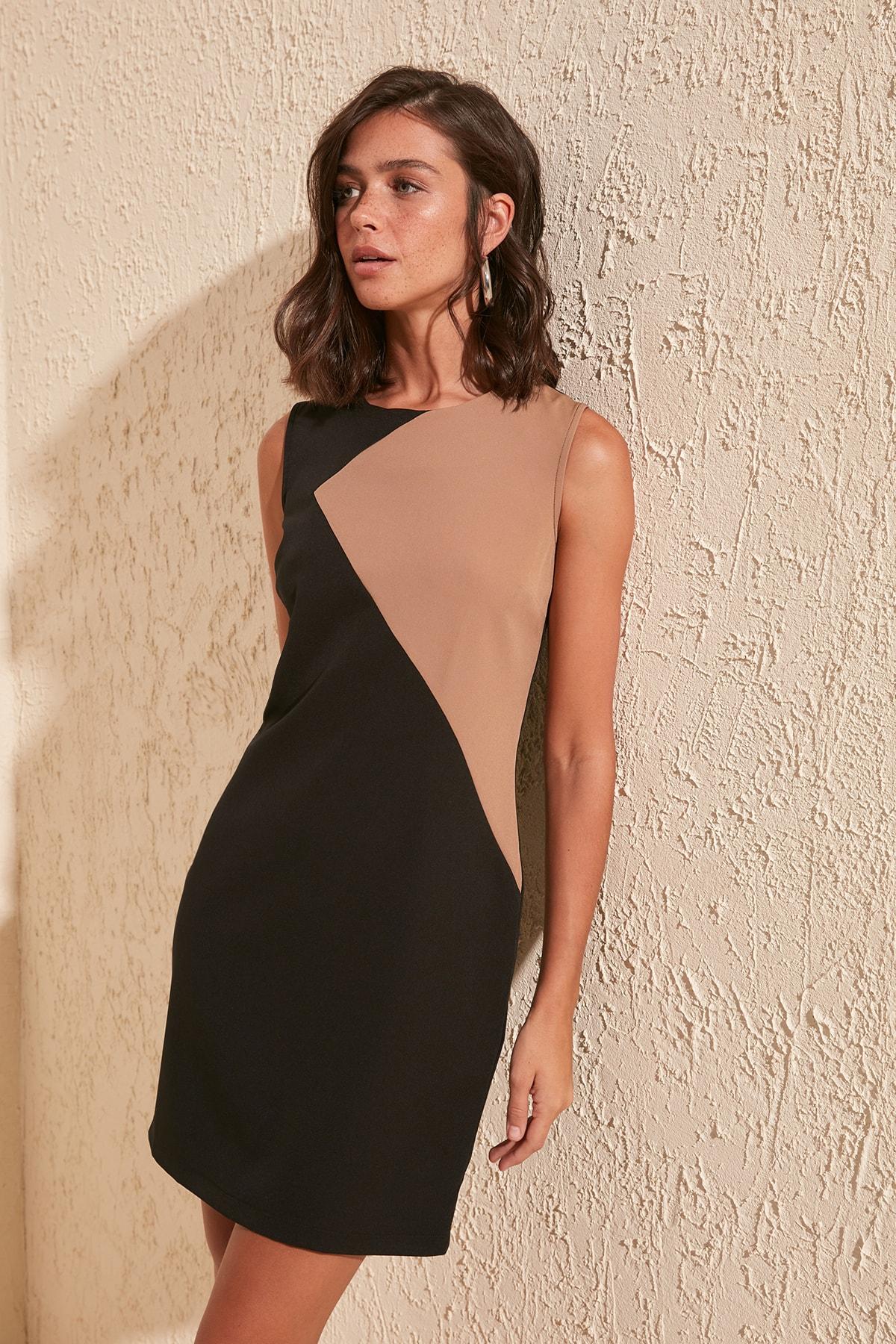 Trendyol With Color Block Dress TWOSS20EL0605