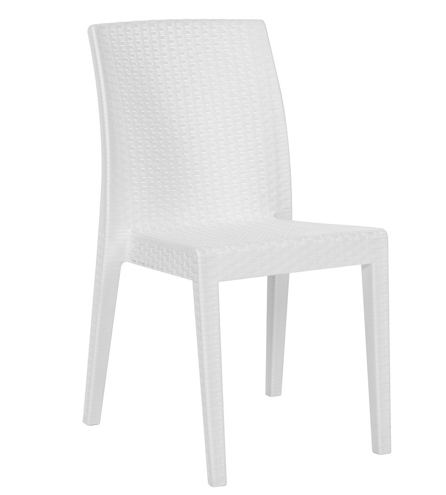 Chair GLADY, Stackable, White Polypropylene
