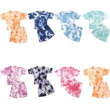 Baby Baby Meisjes Tie-Dye Gedrukt Kleding Sets Voor 1-5Y Zomer Korte Mouw Print Jongen T Shirts Tops + shorts Broek Kids Jongen Past