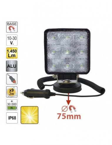 JBM 52566 HEADLIGHT LED WORK-SQUARE