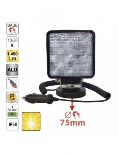 JBM 52566 HEADLIGHT LED WORK-SQUARE