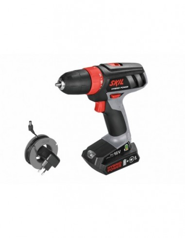 SKIL 2461AA Drill/screwdriver to <font><b>battery</b></font> <font><b>16v</b></font> works also with cord image