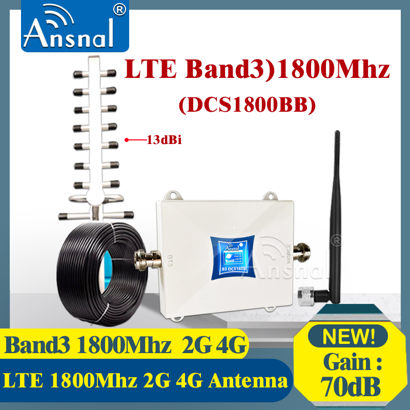 Big Sale!!1800Mhz 4G Signal Booster LTE GSM 1800Mhz 4G NetWork Mobile Booster DCS 1800Mhz GSM Repeater 2g 4g Cellular Amplifier