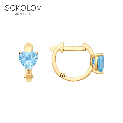 SOKOLOV Drop Earrings With Stones With Stones With Stones With Stones With Stones With Stones With Stones With Stones With Stones With Stones Of Gold With Topazes Fashion Jewelry 585 Women's/men's, Male/female