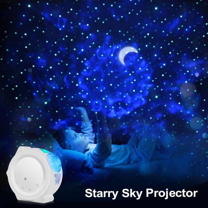 360 Degree Rotation Night Lighting Lamp Starry Sky Projector LED Nebula Light Cloud Night Light 6 Colors Ocean Galaxy Projector