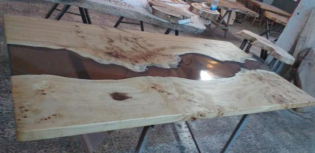 Epoxy Wood  Exotic Dining Table  5