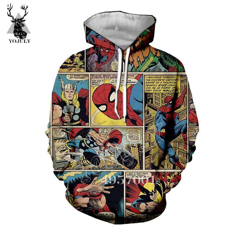 YOJULY アベンジャーズスーパーヒーロースパイダーマンレイセオンコミック 3D プリント Tシャツユニセックススウェットシャツ/パーカーの子の赤ちゃんカジュアル tシャツ Y447