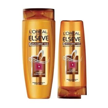 Szampon Loreal Elseve 6 cudowny olej 520 + 175 ml odżywka do włosów zestaw 326031799 tanie i dobre opinie