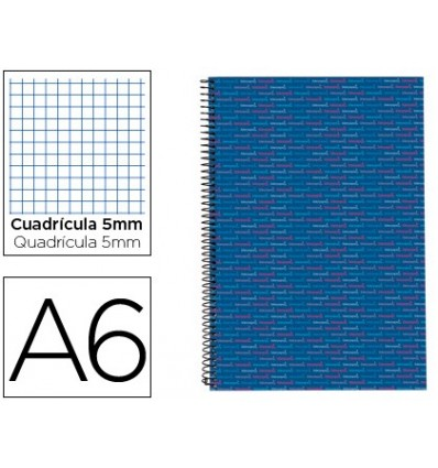 SPIRAL NOTEBOOK LEADERPAPER A6 MICRO MULTILIDER LINED TOP 140H 80GSM TABLE 5MM 5 BLUE BANDS 3 Pcs