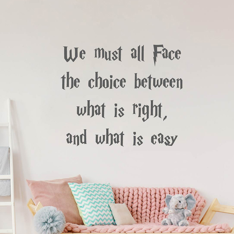 We must all face what is right and what is easy Wall Quotes stickers, Harry-potter quotes stickers image