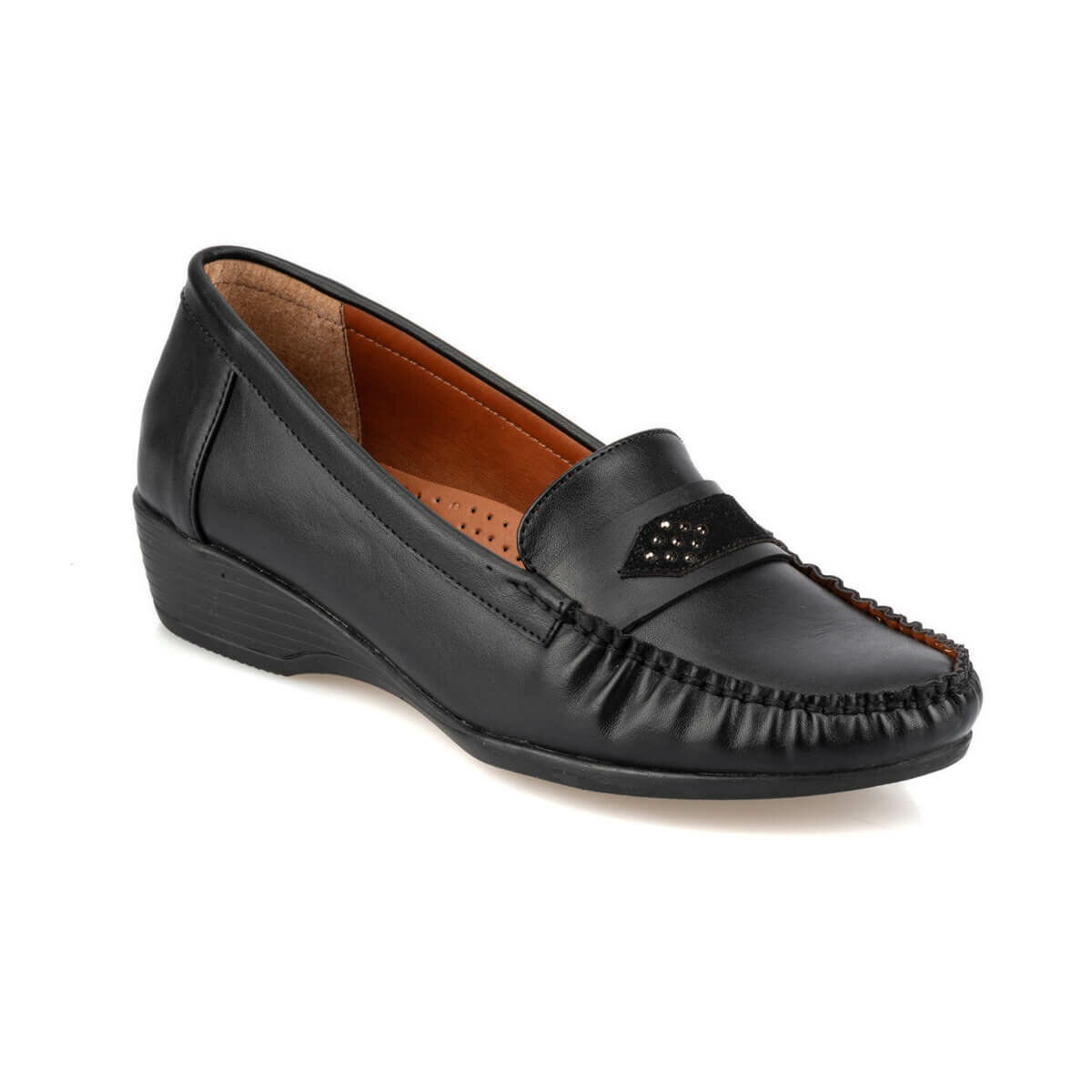 FLO 92. 151014.Z Black Women Loafer Shoes Polaris
