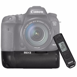Meike MK-7DR II Built-in 2.4g Wireless Control Battery Grip Support Vertical Shooting for Canon EOS 7D Mark II 7D2 as BG-E16