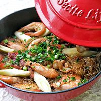 #太太乐鲜鸡汁芝麻香油#大虾培根粉丝煲的做法图解24