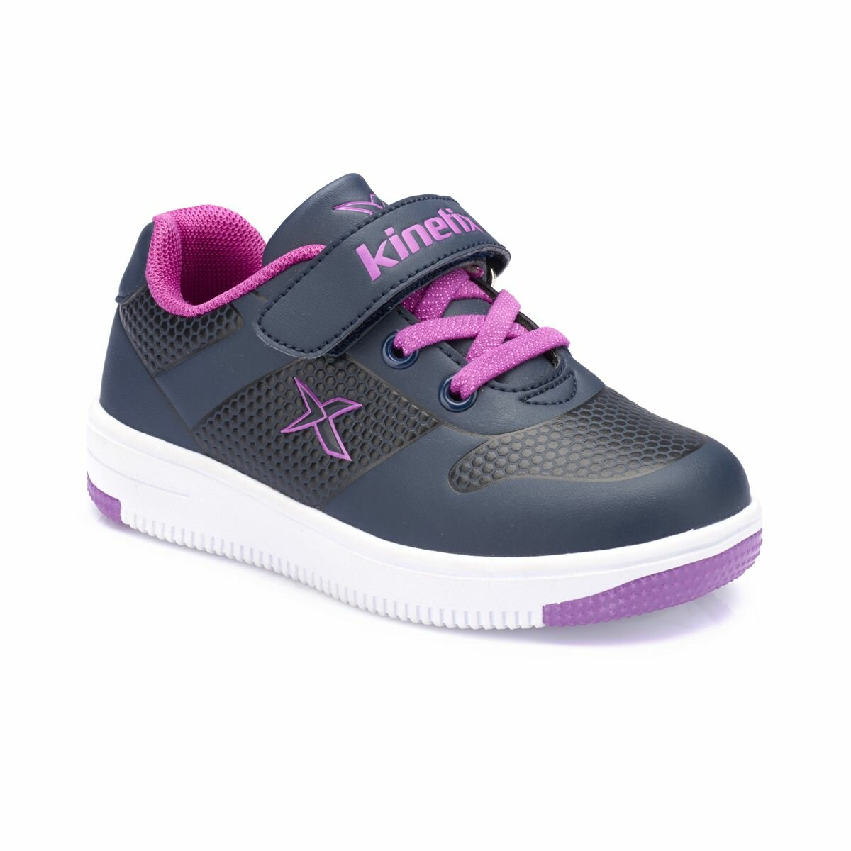 FLO DINRO Navy Blue Female Child Sneaker Shoes KINETIX