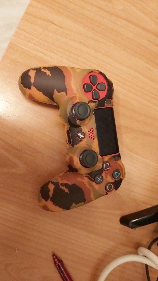 Funda Carcasa + Grip Silicona Camuflaje Mando Sony PS4 Playstation 4
