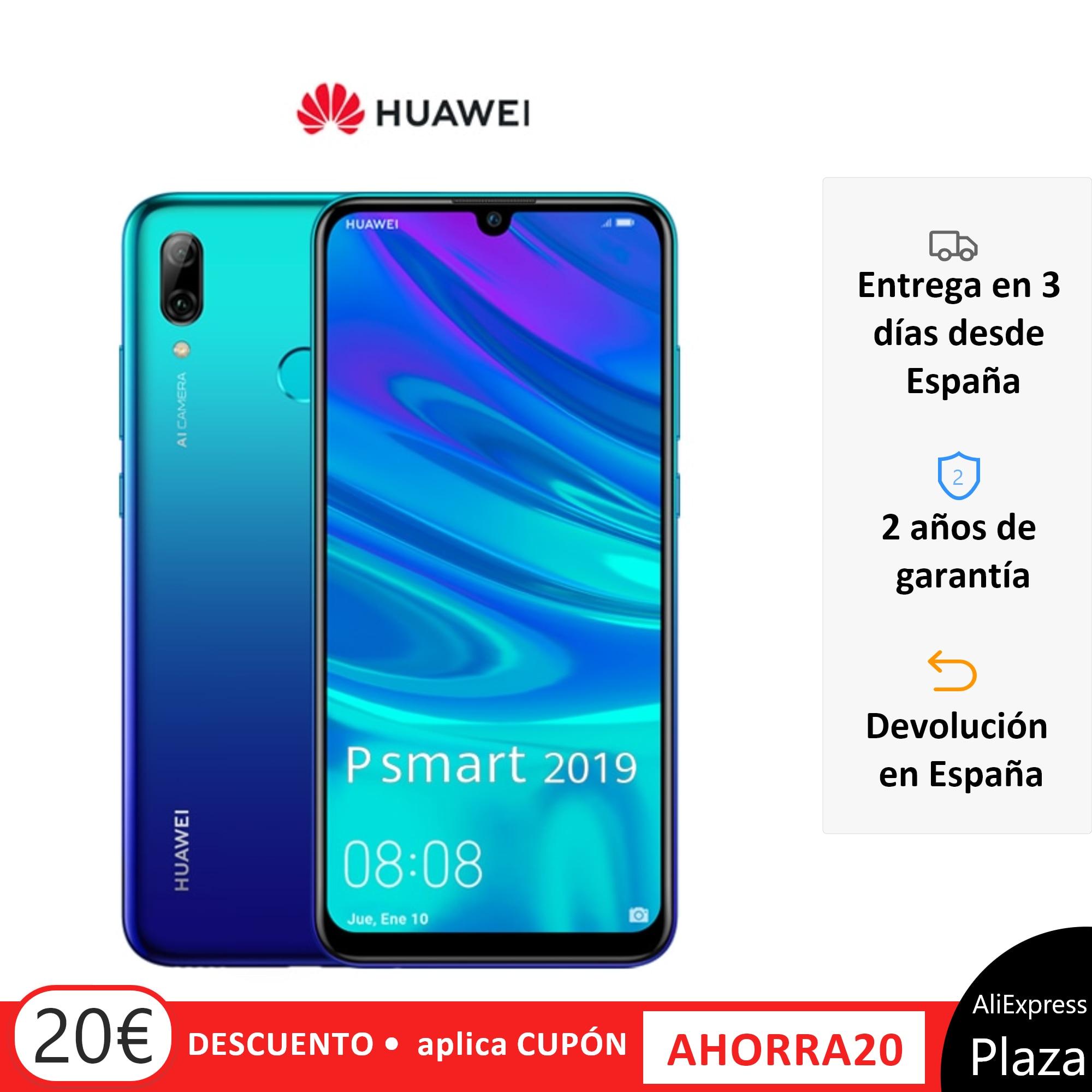 Huawei P Smart 2019 Smartphone (64GB ROM 3GB RAM Google, Android, Nuevo, Libre) [Teléfono Móvil Versión Española] Movil, Moviles