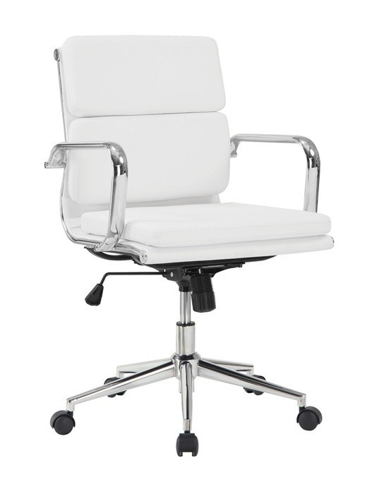 Office Armchair COPENHAGEN, Rotatable, Gas, Tilt, Similpiel White