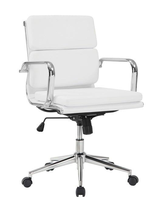 Office Armchair COPENHAGEN, Rotatable, Gas, Tilt, Similpiel White