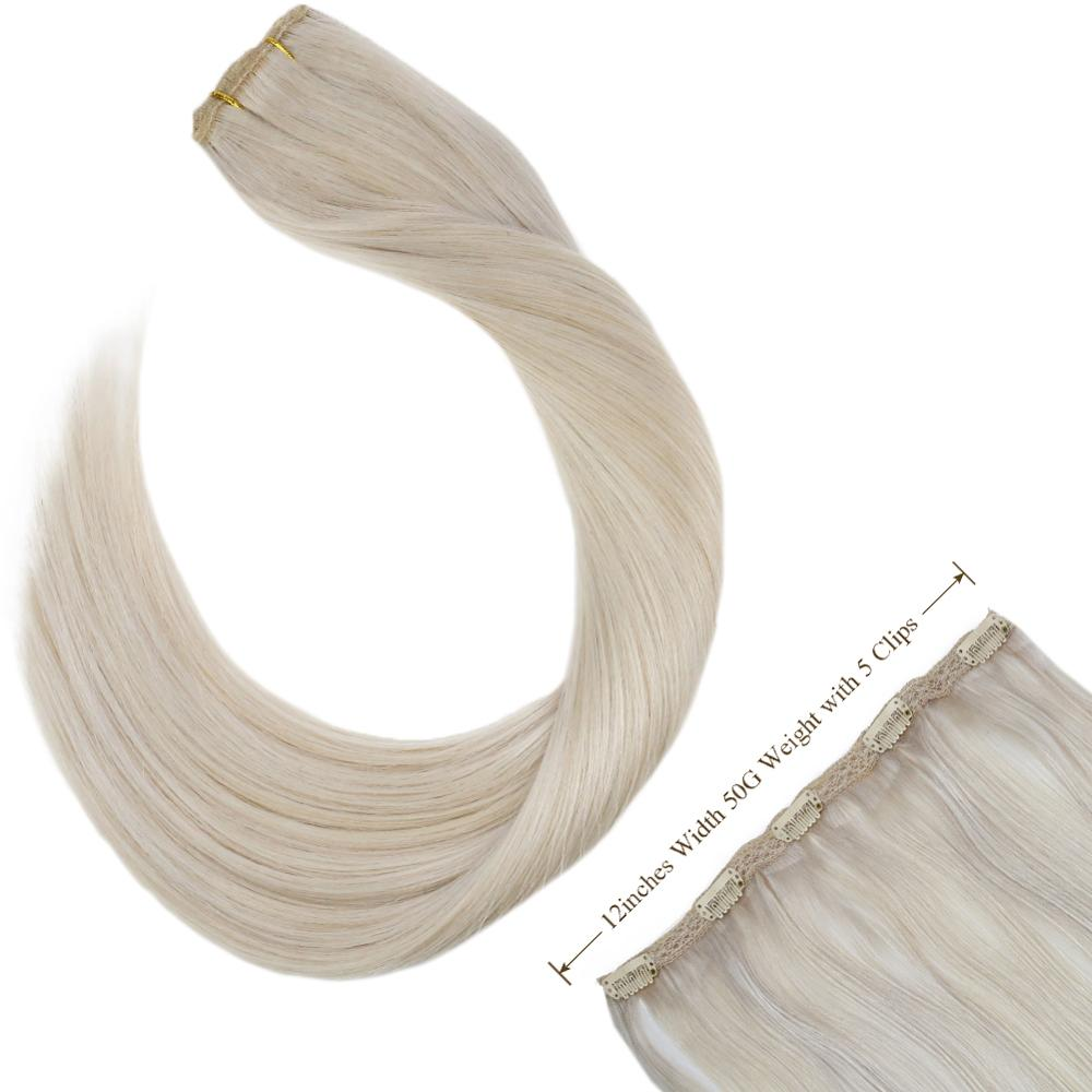 Ugeat Clip In One Piece Hair Extensions 14-24