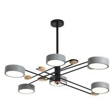 LED Chandelier Modern Metal Lampshades For Living Room Modern Round 110v/ 220V LED Chandeliers White Bedroom Lighting Fixtures