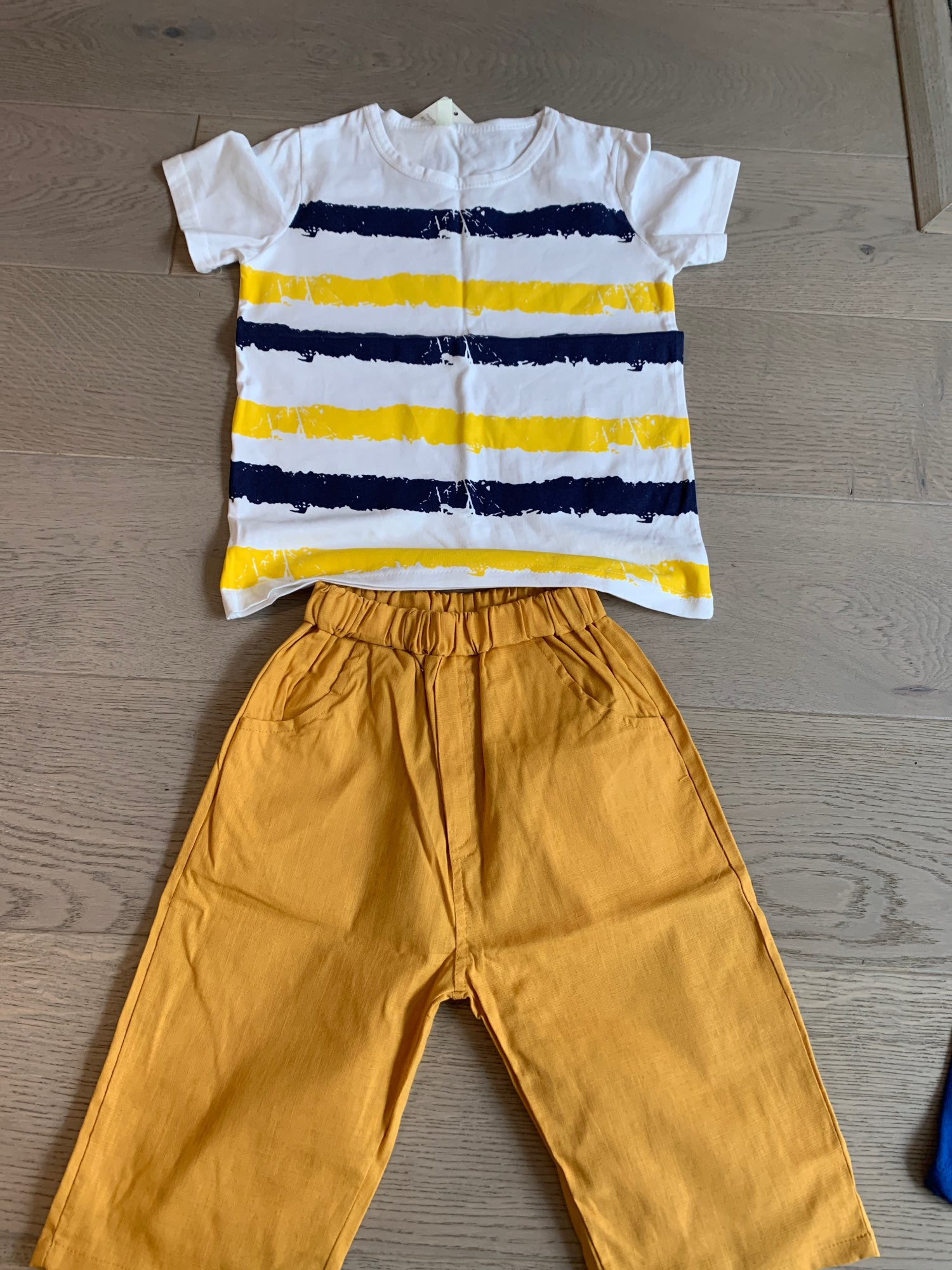 Kids Sets Boys Summer New Children Short Sleeved T Shirt pant Two Sets of Children's Sport Suit 5-14 Ages Clothing 10 12 Year photo review