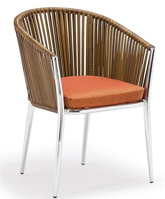 Armchair BAHRAIN, Aluminum, Ratan, Cushion