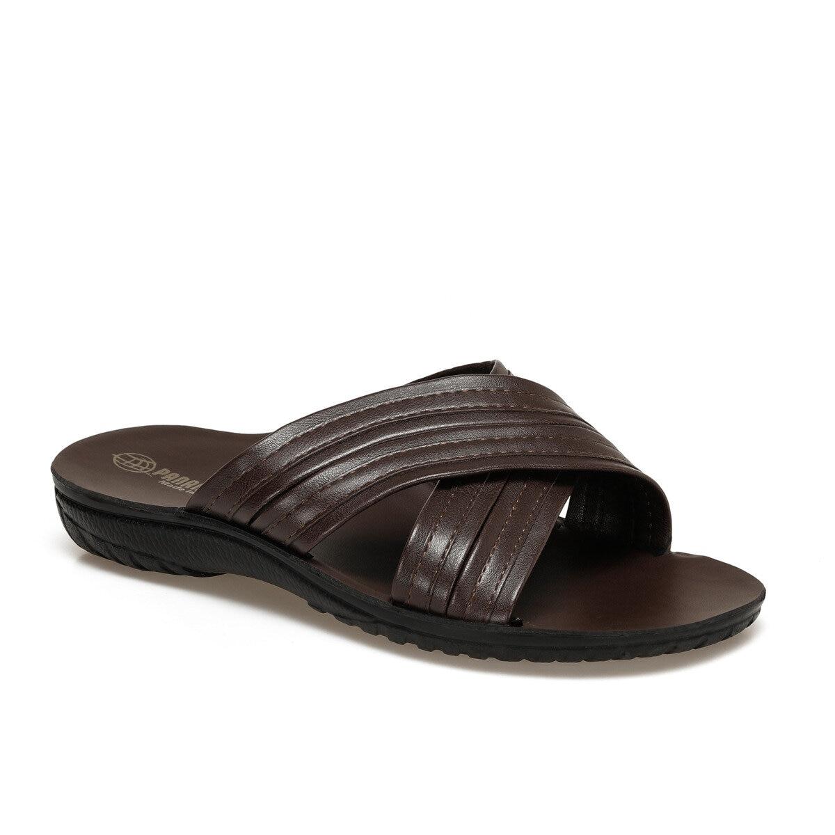 FLO KRY Brown Mens Slippers Panama Club