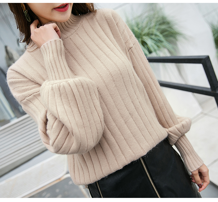 Autumn Knitting Women Sweaters Large Size Knitting Sweaters For Women Turtleneck Elasticity Pullover Harajuku Women Sweater photo review