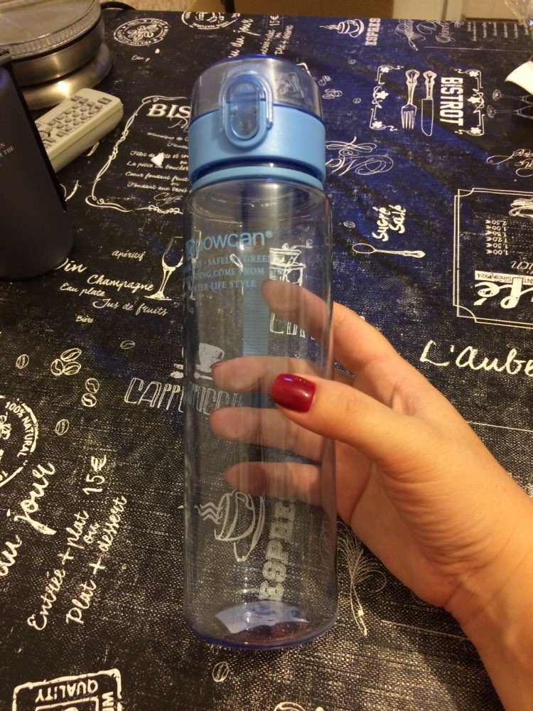 Sports Water Bottle 400/560ML Protein Shaker Outdoor Travel Portable Leakproof Tritan Plastic Drink Bottle for Water  Cup.j-in Water Bottles from Home & Garden on AliExpress