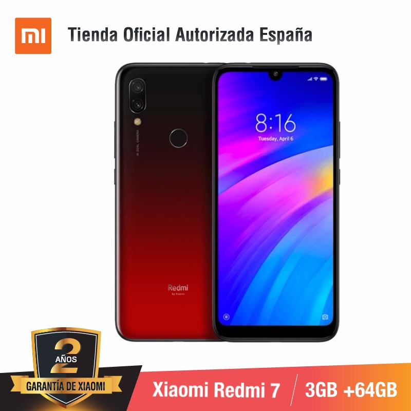 [Versão Global para a Espanha] Xiaomi Redmi 7 (Memoria interna de 64 GB, RAM de 3 GB, Bateria de 4000 mah) Smartphone