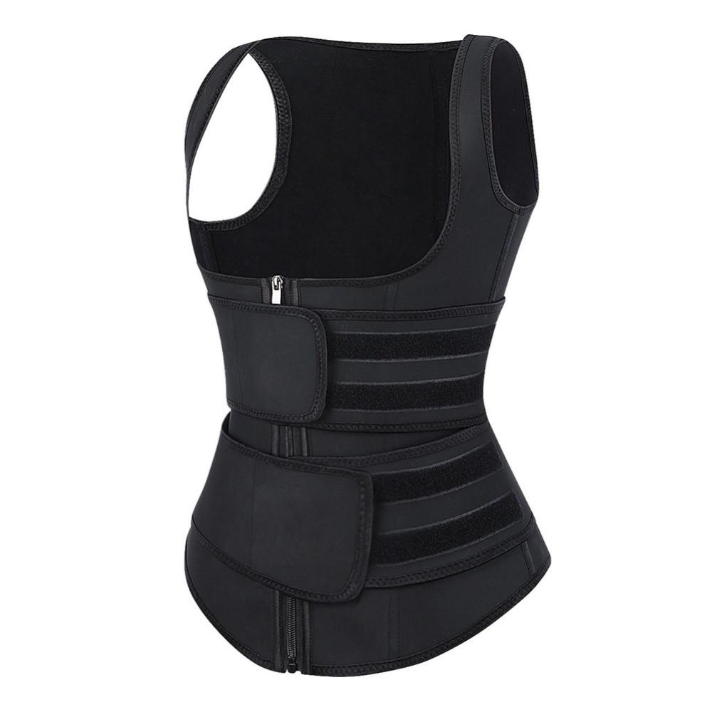 TRAINER SECRET Sauna Vest Body Shapper 9 Steel Bone Slimming Waist Trainer Shaper Adjustable Sweat Belt Corset Workout Shapewear