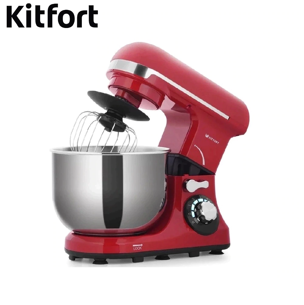 Food Mixer electric kitchen Kitfort KT-1337 Cocktail shaker mixers Planetary mixer Dough Mixer with bowl Kitchen machine led spout swivel spout kitchen sink faucet pull out mixer tap with cover plate nickel brushed finished