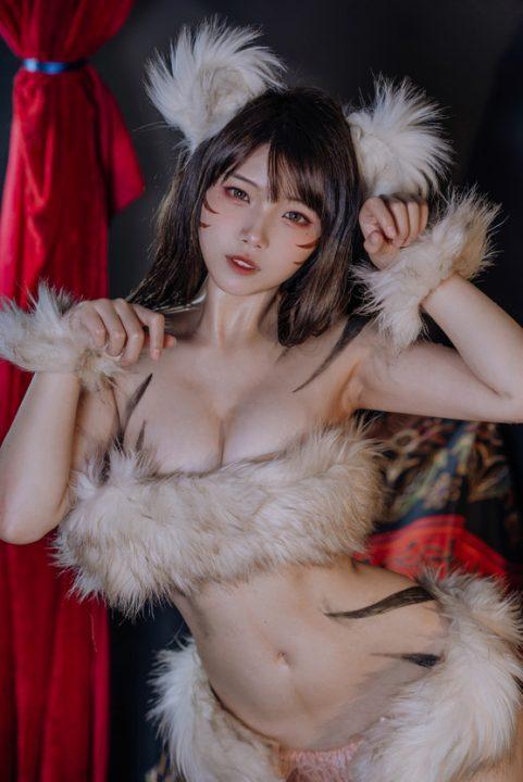 饺子君cosplay虞姬