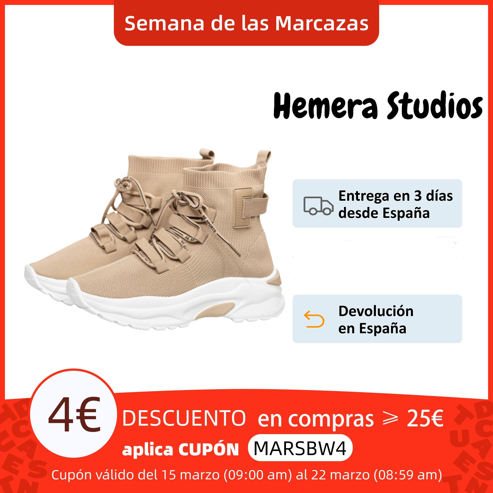 Hemera Studios Zapatillas Tipo Calcetín Mujer Deportivo Botín 2021 Calzados Cómodos tejido cámara de aire sneakers multicolor Zapatos vulcanizados de mujer  - AliExpress