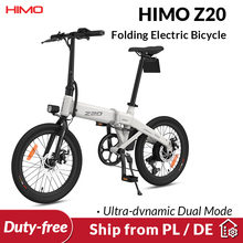 Ab stok HIMO Z20 elektrikli bisiklet Ultra dinamik çift modlu katlanır E bisiklet 250W 10Ah açık kentsel bisiklet 80KM kilometre plaj e-bisiklet