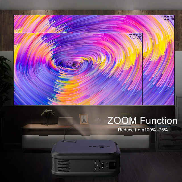 WZATCO T59 4k Projector Full HD Native 1080P Android 9.0 3