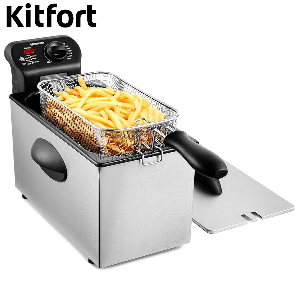 Deep Fryer Kitfort KT-2022 Deep Fryer Deep Fryer Electric Deep Fryer frying fries for home kitchen appliances commercial manual donut doughnut maker machine and electric deep fryer