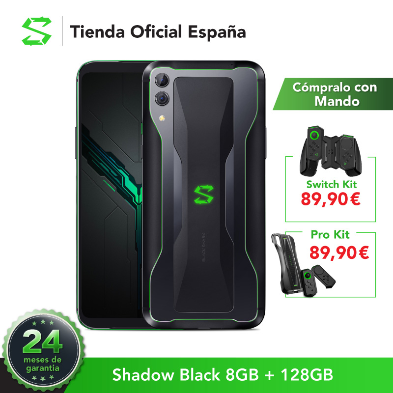UE Versão Black Shark 2 8G 128G Sombra Preta (24 meses garantia oficial) Snapdragon 855, novo, o Telefone!