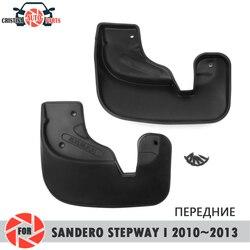 Błotniki samochodu dla Renault Sandero Stepway 2010 ~ 2013 błotniki splash guards błotnik błotnik przednie błotniki błotnik akcesoria samochodowe