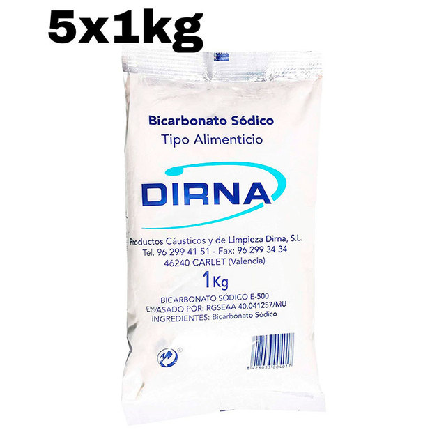 5 x Bag baking soda 1kg DIRNA food Excellent alternative for household cleaning and personal care